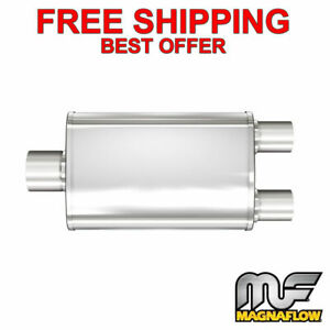 Magnaflow Xl 3 Chamber Stainless Steel Turbo Muffler 2 25 C 2 Dual 13148