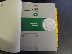 John Deere 9300t And 9400t Tractors Operation And Test Technical Manual Tm1784