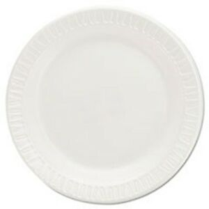Foam Plastic Plates 6 Inches White Round 125 pack By Dart