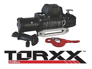 Torxx 9500 Lb Series Wound 5 5 Hp Winch W 100 Synthetic Rope Wor0095s