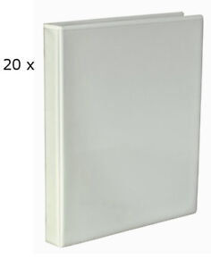20 X White A4 Presentation Cover Ring Binder File Folder 40mm Spine 4 X D Ring