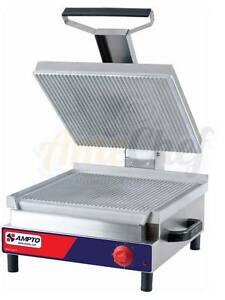New Commercial Professional Panini Grill Press 16 Sandwiches Etl Listed Ssge