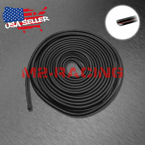Soft Rubber Flexible Black Door Edge Guard Scratch Paint Protection Molding Trim
