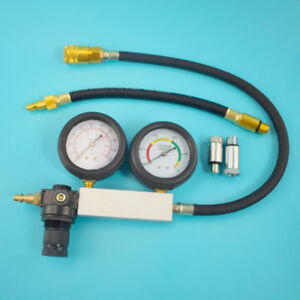 Cylinder Leak Down Tester Leak Detector Engine Compression Tester Gauges Good