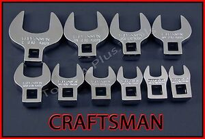 Craftsman Hand Tools 10pc Lot Full Polish Sae Crowfoot Crowsfoot Wrench Set