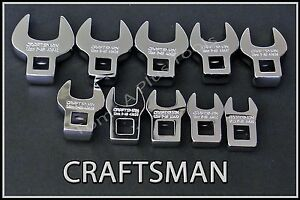 Craftsman Hand Tools 10pc Full Polish Metric Mm Crowfoot Crowsfoot Wrench Set