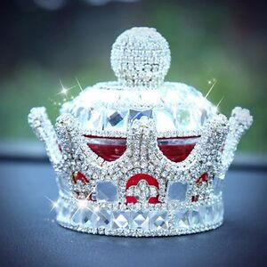 Silver Crystal Crown Car Seat Bottle Perfume Air Freshener Car Perfume Diffuser