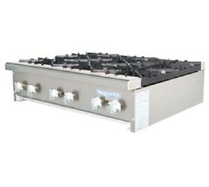 Radiance Cooking Tahp 36 6 36 wide 6 Burner Commercial Gas Hotplate