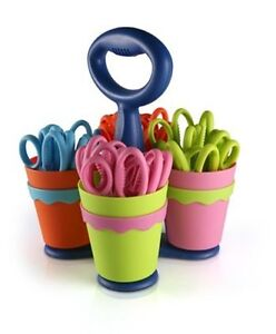 Scissors W microban Caddy Pointed 24pk Assorted