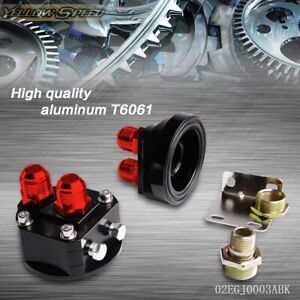 Oil Filter Relocation Male Sandwich Fitting Adapter Kit 3 4x16 20x1 5 Black