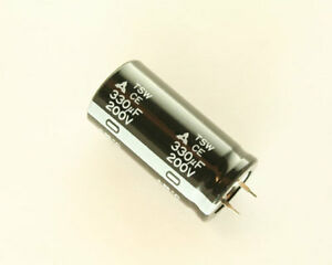25x Panasonic 330u 200v Aluminum Electrolytic Snap In Capacitor Ece t2dr331sw