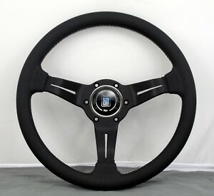 Nardi Steering Wheel Deep Corn 330mm Black Perforated Leather W Italian Stitch