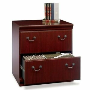 Bowery Hill 2 Drawer Lateral File Cabinet In Harvest Cherry