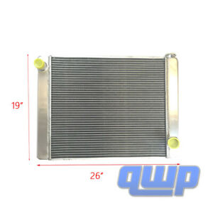 For Gm Chevy Universal Racing Aluminum Radiator 2 Row 26 X 19 X3 Welded