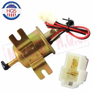 Electric Inline Fuel Pump For Motorcycle Low Pressure 12v Carburetor Fp 02 Atv