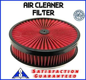 14 Breather Washable 4 Air Filter Cleaner Reusable Oiled Fits Chevy Ford Sbc