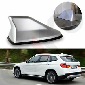 Silver Universal Suv Car Roof Radio Am Fm Signal Shark Style Aerial Fin Antenna