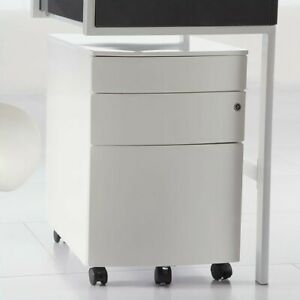 Filing Cabinet File Storage Floyd Ppf 3 Drawer In White By Eurostyle