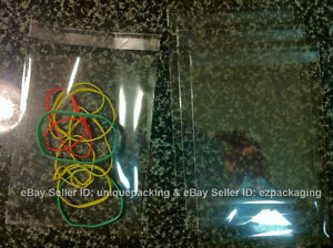 100 4x6 Clear Resealable Bakery Candle Soap Cookie Poly Cello Cellophane Bags