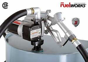 Fuelworks 12 volts 20gpm Explosion proof Fuel Transfer Pump Kit With 14 Hose