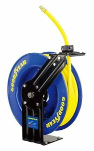 Goodyear Steel Retractable Air Compressor water Hose Reel 3 8 X 50 Ft 300psi