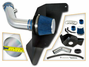 Bcp Blue 2015 2017 Ford Mustang 3 7 V6 Cold Air Intake Kit Heat Shield