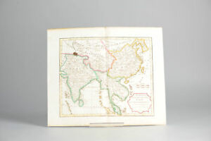 Antique 1806 French Map Of Asia Including China Indoneseia India Singapore