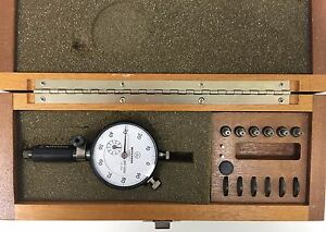 Mitutoyo 526 371 Dial Bore Gage Set 0185 0380 Range 001 Graduation