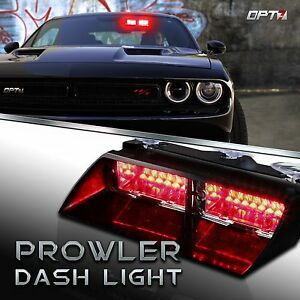Emergency Dash Lights Car Fire Fighter Volunteer Vehicle Dashboard Red Strobe