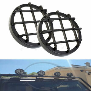 2pcs 27w 4wd Round Led Work Light Cover Fog Lamp Protect Tool Shell For Off Road