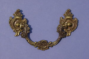 Antique Brass Furniture Drawer Pull Ornate French Victorian Style Vintage