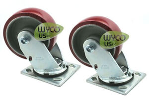 2 Caster Wheesl 5 x2 For Tennant 5680 5700 7200 Rider Scrubber Repl 222467