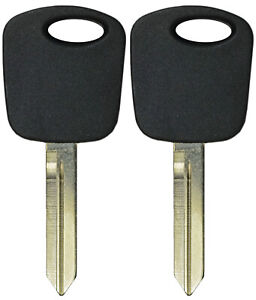 Lot Of 2 Transponder Chip Ignition Keys Replacement For Ford Escape Focus