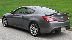 New Unpainted For 2010 2016 Hyundai Genesis Coupe Rear Spoiler W Led Light Wing