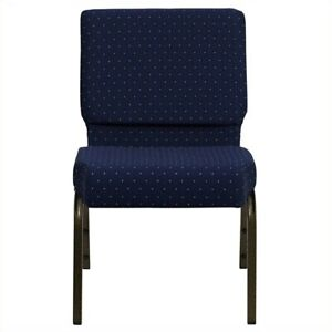 Flash Furniture Hercules Patterned Church Stacking Guest Chair In Blue