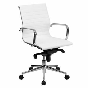 Flash Furniture Mid Back Upholstered Office Chair In White