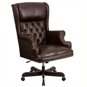 Flash Furniture High Back Upholstered Executive Office Chair In Brown