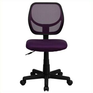 Flash Furniture Mid back Purple Mesh Task And Computer Office Chair