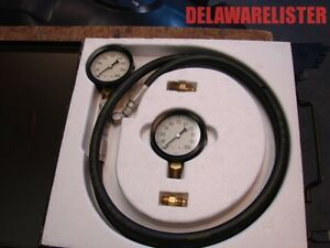 us Military Truck Marsh Instrument Co Compound pressure Vacuum Gauge Set Nos