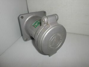 Appleton Adr1033rs 100 amp Reverse Service Pin sleeve Receptacle 100a 600v 3p 3w