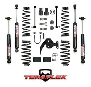 Teraflex 2 5 Suspension Lift Kit W 9550 Shocks For 07 17 Jeep Wrangler Jk 2 Dr