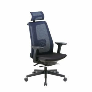 Boss Office Contemporary Mesh Executive Chair With Headrest In Black