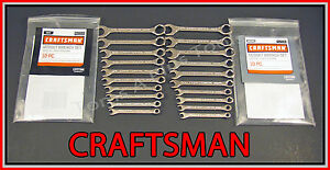Craftsman Tools 20pc Full Polish Ignition Sae Metric Mm Wrench Set