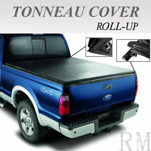 Lock Roll Up Soft Tonneau Cover Fit 2007 2013 Gmc Sierra 5 8ft 69 6in Short Bed