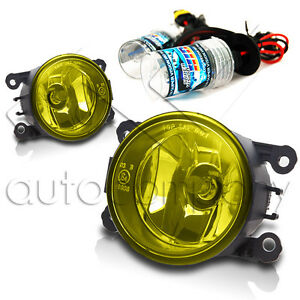 2005 2015 Ford Mustang Replacements Fog Lights W Hid Conversion Kit Yellow