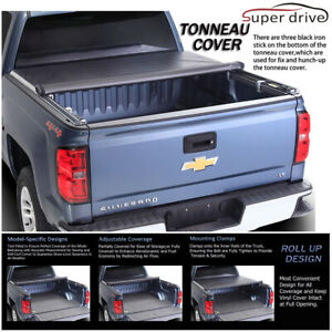Fits 2007 2013 Chevy Silverado Roll Up Lock Soft Tonneau Cover 6 5ft 78 Bed