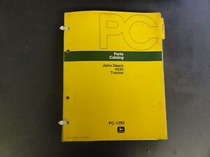 John Deere 4030 Tractor Parts Catalog Pc 1293