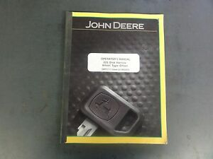 John Deere 225 Disk Harrow Wheel Type Offset Operator s Manual Omp57111