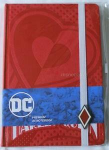 Harley Quinn Red Hardcover Writing Journal Notebook Dc Officially Licensed