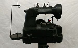 Chandler Hand Operated Button Sewing Machine Hole With Stand